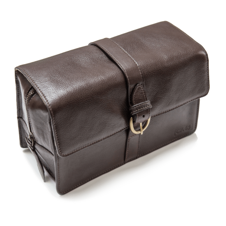 Capt Fawcett® Leather washbag