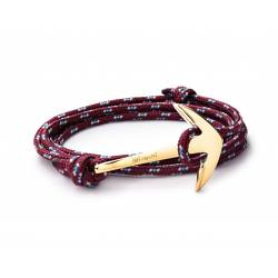 MIANSAI Gold plated Anchor on Burgundy rope