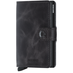 SECRID Miniwallet grey vintage - Black