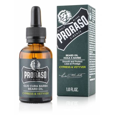 PRORASO Beard Oil Cypress & Vetyver  30ml
