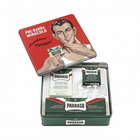 PRORASO Vintage Selection Green Refresh - Set de rasage