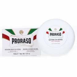 PRORASO Shaving Soap White Sensitive Bowl 150ml