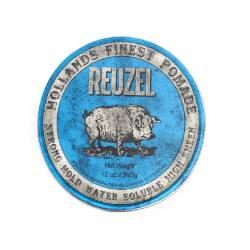 REUZEL - Pommade coiffante Blue Haute brillance et forte tenue MAXI 340gr