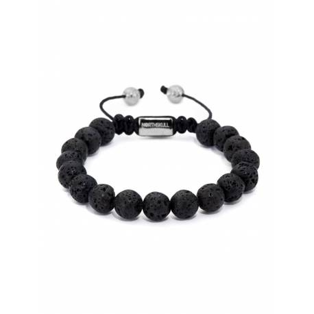 Northskull® Bracelet pierre de lave - Argent 925