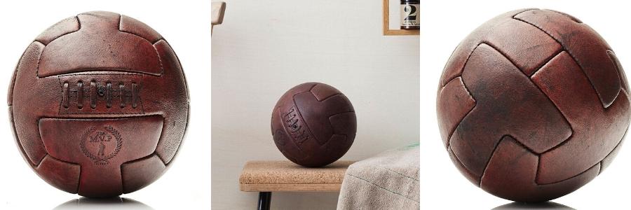 Ballon de football en cuir Vintage